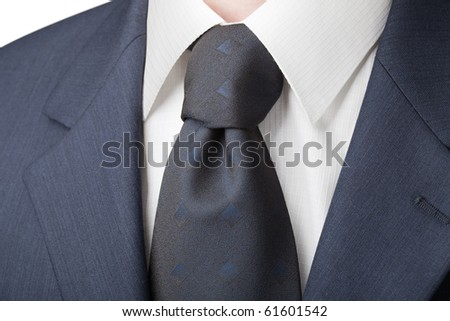 Business daily menswear: shirt, tie and jacket. Chemise has the texture of the cell - stock photo
