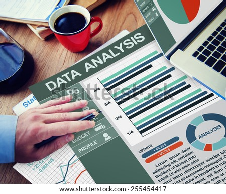 Business Data Analysis Information Network Concept - stock photo