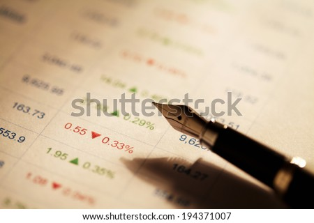 Business data report. stock market  - stock photo