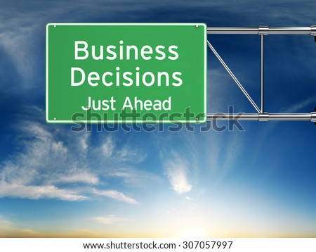 Business decision making concept.   - stock photo