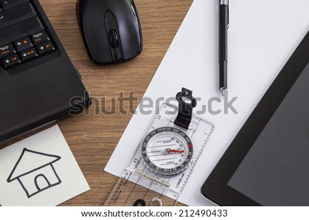 Business desk - stock photo