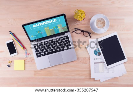 Business desk concept - AUDIENCE - stock photo