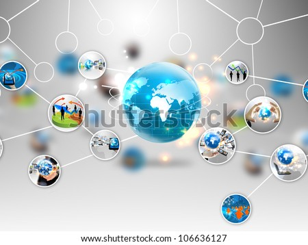 business diagram - stock photo