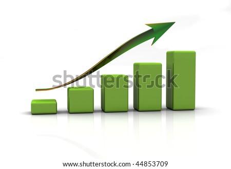 business diaram graph, chart - stock photo
