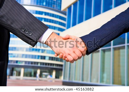 Business done - stock photo