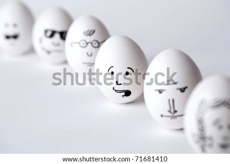 Business eggs - stock photo