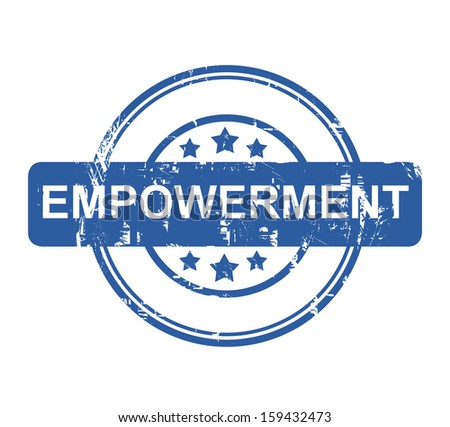 Business Empowerment blue stamp with stars isolated on a white background. - stock photo