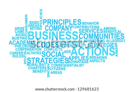 Business ethics and guidelines. - stock photo