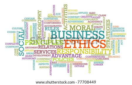 Business Ethics and Guidelines as a Concept Word Cloud - stock photo