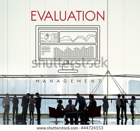 Business Evaluation Decision Estimate Strategy Concept - stock photo