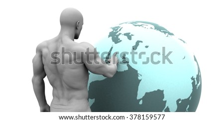 Business Expansion into Middle East or Arab States Concept - stock photo