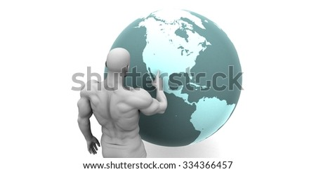 Business Expansion into North America Continent Concept - stock photo