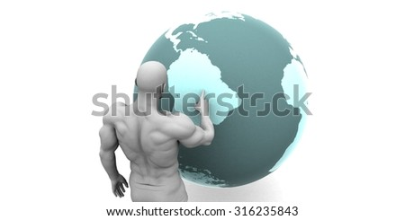Business Expansion into South America Continent Concept - stock photo