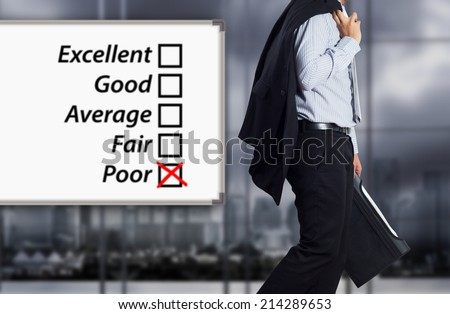Business failure. Concept of failure with businessman. - stock photo