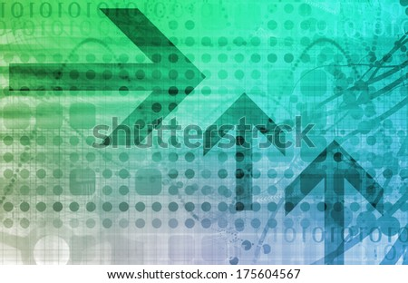Business Finance and Technology as a Art Abstract - stock photo
