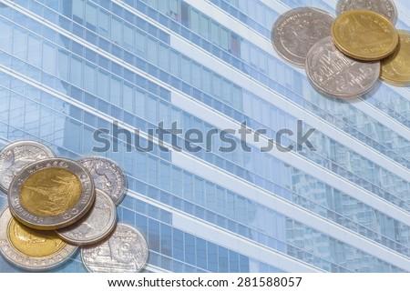 business finance economic background - stock photo