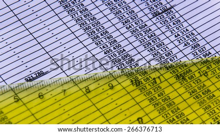 Business finance on the paper - stock photo