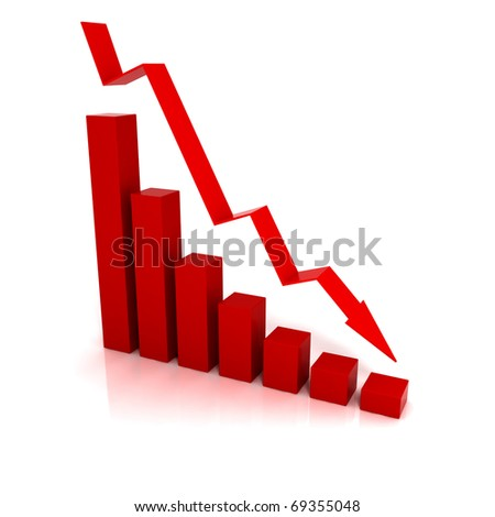 Business Financial Crisis - 3D illustration - stock photo