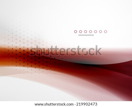 Business flowing wave corporate abstract background, flyer, brochure design template - stock photo