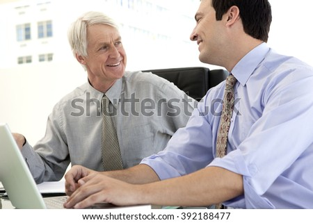 Business fun with ceo at a meeting - stock photo