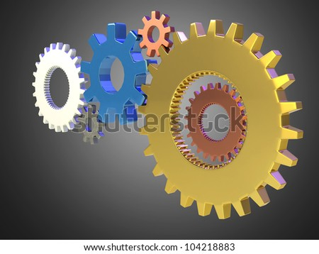 Business gear, success concept - stock photo