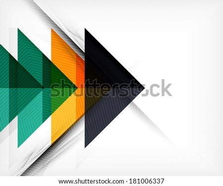 Business geometric shapes abstract poster. Can be used for web banners, printed materials, business presentations - stock photo