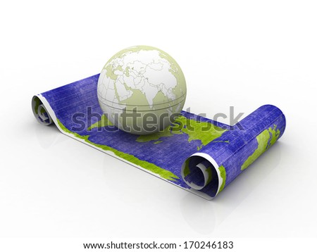 Business globe with map - stock photo
