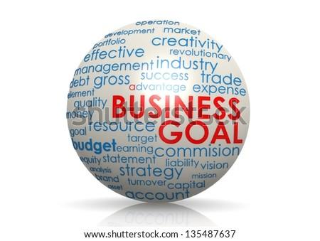 Business goal sphere - stock photo