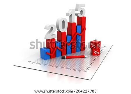 Business Graph 2015	 - stock photo