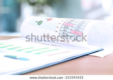 Business graph analysis report. Project Budgeting - stock photo