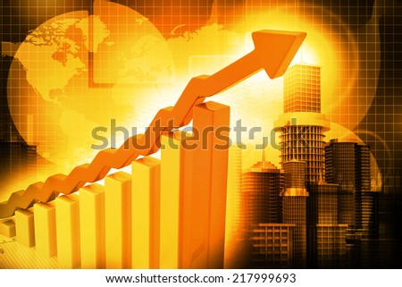 Business Graph  chart 		 - stock photo