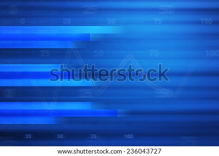 Business graph for business background, blue tone - stock photo