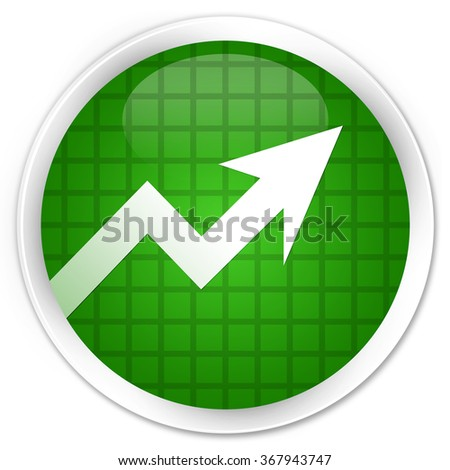 Business graph icon green glossy round button - stock photo
