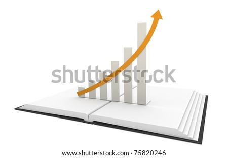 Business Graph. Pop-Up Book with Business Graph. - stock photo