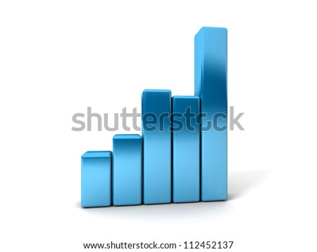 Business Graph showing profits and gains - stock photo