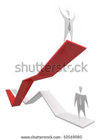Business Graph -  - variations of this concept in my portfolio - stock photo