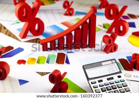 Business Graphics - stock photo