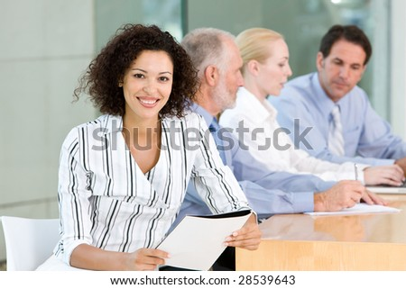 business group meeting - stock photo