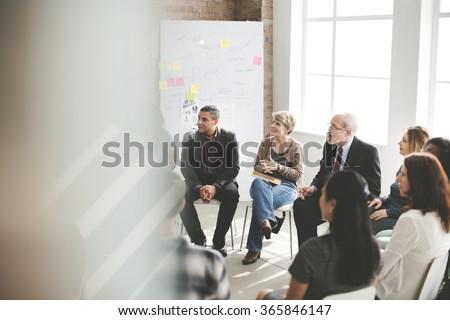 Business Group Seminar Meeting Concept - stock photo