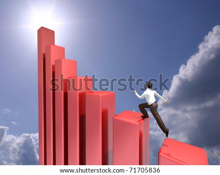 Business growth - stock photo