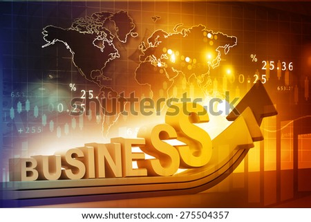 business growth concept background 	 - stock photo