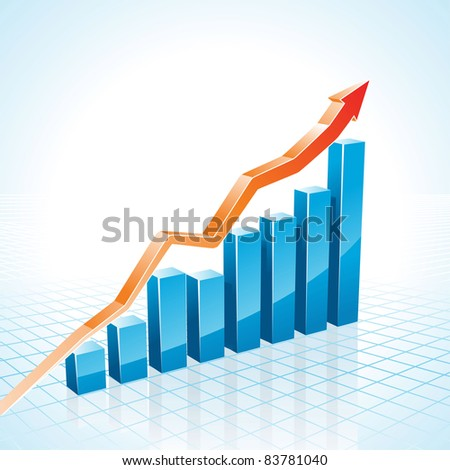 Business Growth Graph raster - stock photo