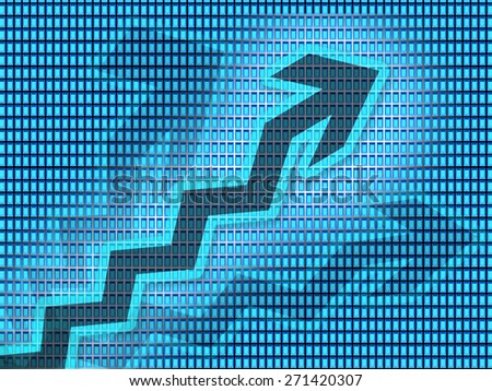Business growth with graph arrows - stock photo