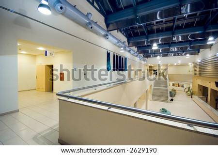 business hall - stock photo