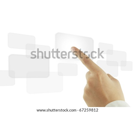 Business hand lcd - stock photo