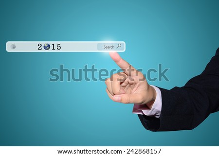 Business hand writing Business Concept 2015  - stock photo