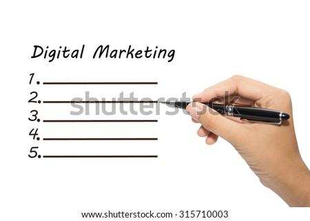 Business hand writing Digital Marketing - stock photo