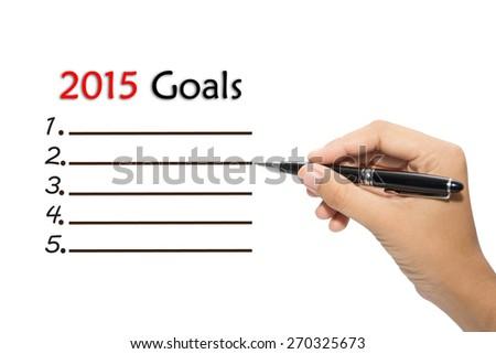 Business hand writing  2015 Goals - stock photo