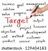business hand writing target concept - stock photo