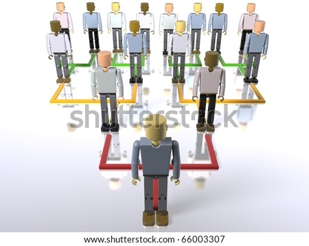 Business hierarchy - bottom to top - stock photo